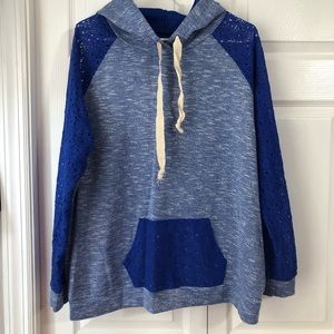 Blue lace hoodie